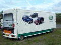 land rover exhibition trailer graphics