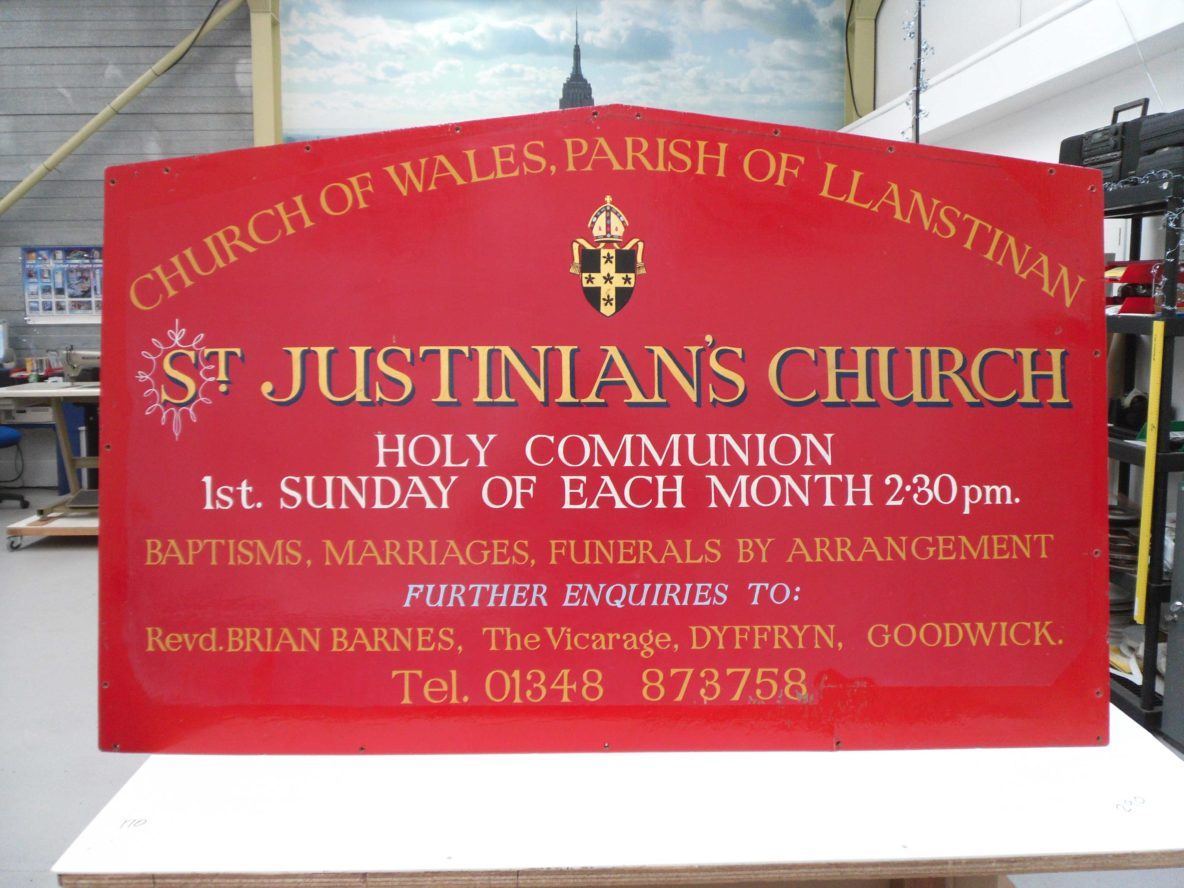 Traditional, Hand Painted Sign, Sigma display, pembrokeshire